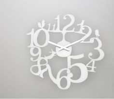 "Pip Acrylic Wall Clock - Very ""Alice in Wonderland"""