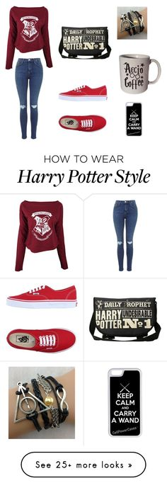 """Harry Potter is my life"" by kaylamarie-01 on Polyvore featuring Vans and CellPowerCases"
