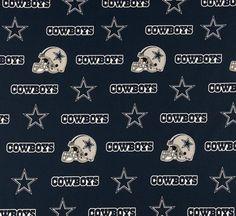 "Springs Creative 100% Cotton Designer Sports Fabric NFL 60""w Dallas Cowboys Blue"