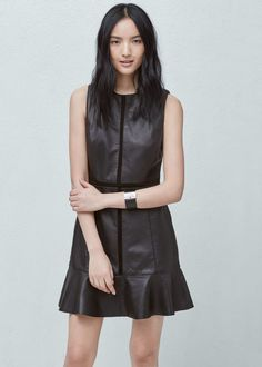 Leather dress | MANGO