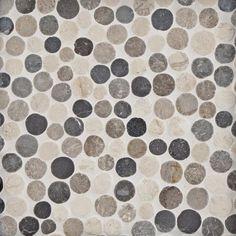 Corsica Blend Pebble Mosaic - 12 x 12 - 100555655 | Floor and Decor