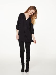 LACED TUNIC, Black