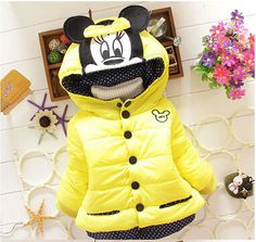 Toddler Minnie Mouse Hooded Down Coat
