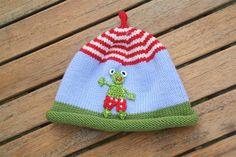 Mützen - Lustiger Froschjunge ♥ Mütze für Babys und Kinder - ein Designerstück von -Wimmelkinder- bei DaWanda