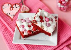 Red Velvet Marshmallow Bars