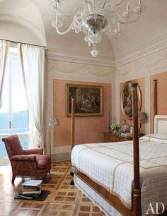 Studio Peregalli designed bedroom, Neapolitan apartment: Interiors + Inspiration : Architectural Digest