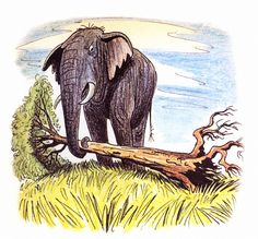 """Walt Disney's Goliath II"" by Bill Peet #elephant Elephant Illustration, Children's Book Illustration, Bill Peet, Disney Concept Art, Learn To Paint, Illustrators, Moose Art, Character Design, Animales"