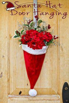 Fun idea for an alternative to the Christmas Wreath.
