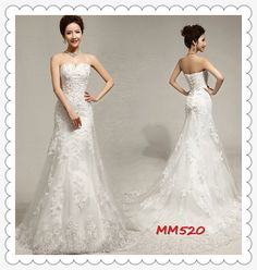 Lace Wedding Dress Lace  Strapless Sweetheart with Train  vintage bridesmaid dress on Etsy, $275.00