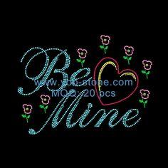 Heart Be Mine Rhinestone Transfer For Women Dresses