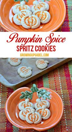 Give butter cookies a fall twist by adding pumpkin! A simple cookie press helps to make these cookies quick and easy to make.