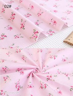 Cotton Fabric, Twill Cotton Fabric, Shabby Chic,Large Rose Cotton Fabric Pink Rose Flower on Pink Cotton Fabric Half Yard / Meter Gingham Fabric, Cotton Fabric, Embroidery Suits Punjabi, Fabulous Fabrics, Fabric Shop, Fabric Patterns, Pattern Design, Projects To Try, Shabby Chic