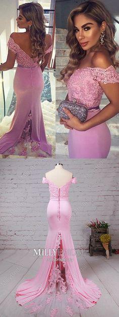 6430904a96c Long Prom Dresses For Teens,Pink Formal Evening Dresses Elegant,Simple  Wedding Party Dresses