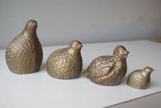 Pheasant or Quail. Brass Partridge Birds. by theenchantedfigtree, $29.99