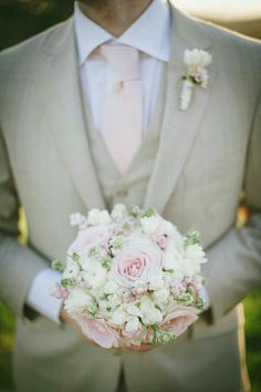 Lovely mini posy. Also like the buttonhole in the background.