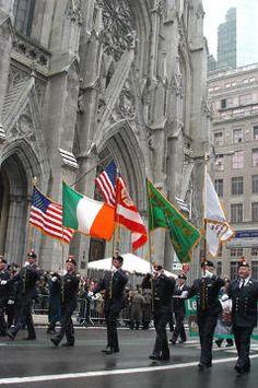 Saint Patrick's Day Parade, NYC. ~ 5th Avenue.