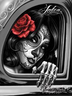 Keeping The Art David Gonzales Art -Lowrider Arte