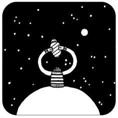 Come un tempo alla #luna - As once to the #moon | #Omeini by Luigi Viscido, via Flickr | #art #italy #illustration