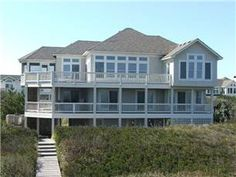 Beach Plum is a/an Oceanfront Outer Banks vacation rental located in Pine Island, NC. This Oceanfront Outer Banks rental is perfect for your next OBX vacation Obx Rentals, Beach Plum, Outer Banks Vacation Rentals, Pine Island, Beach House, Mansions, House Styles, Homes, Home Decor