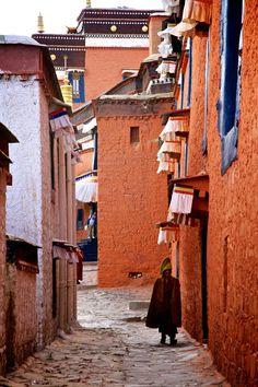 Streets of Shigatse Tibet