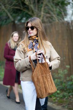 The Best London Fashion Week Street Style: Fall 2015 - HarpersBAZAAR.com