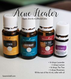Oil Blends — Kara Mickell Designs Young Living diy roller bottle blend for acne or zits Essential Oils For Face, Essential Oils For Headaches, Essential Oils For Skin, Essential Oil Blends, Breathe Essential Oil, Young Living Essential Oils Recipes Cold, Essential Oils Pimples, Young Living Oils, Young Living Hair