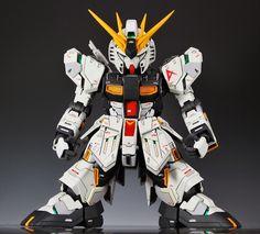 GUNDAM GUY: SD + MG 1/100 Nu Gundam Ver. Ka - Custom Build