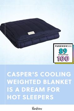 If you've been on the hunt for a warm-weather weighted blanket, or you're just always hot (*raises hand*) this cooling design from Casper is the best of the best. #weighted #blanket #sleep Morning Sweats, Benefits Of Sleep, Keep My Cool, Weighted Blanket, How To Fall Asleep, Warm Weather, Bedding, Hot, Mental Health