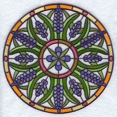 Stained glass in embroidery