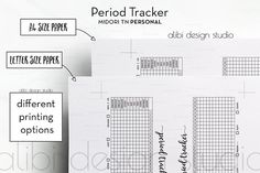 Period Tracker Travelers Notebook Monthly Tracker Health