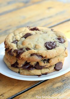 The New York Times Chocolate Chip Cookie Recipe. These cookies have a crispy edge, a chewy middle & a melt in your mouth soft center!
