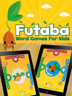 Word Games for Kids - Futaba on the App Store Learning Spanish, Kids Learning, Mobile Learning, Spanish Class, English Class, Early Learning, Math Games, Fun Games, Word Games For Kids