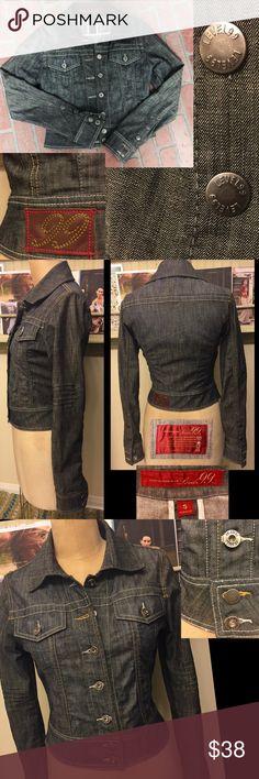 "LEVEL 99 like new jean jacket, long sleeve LEVEL 99 like new jean jacket, long sleeve, approx 18"" from shoulder to bottom hem, greyish-blue.  A WARDROBE STAPLE!  x44123 Anthropologie Jackets & Coats Jean Jackets"