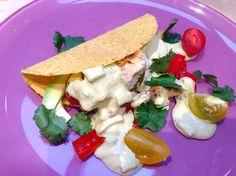 Fish taco's with BBQ tilapia and avocado >> recipe on www.francescakookt.nl