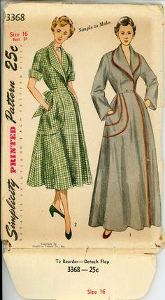 1950s glamorous robe hostess dress - Google Search