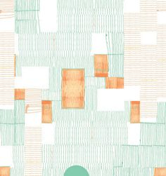 Mint Blanket Wallpaper by Renée Rossouw. #productdesign #industrialdesign #ID #design #wallpaper #graphicdesign #interiordesign #dwell