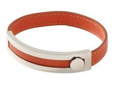 Hermès Argent Bracelet En Cuir Et Vermillion  €65.00