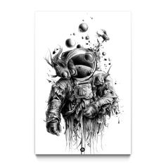 Bubbaldrin Bubbaldrin,Zeichnung This giclee print offers beautiful color accuracy on a high-quality paper or canvas according to your specification of size and format above. Giclee (French for to spray) is a printing process where. Inspiration Art, Art Inspo, Desenho Tattoo, French Artists, Art Plastique, Artwork Prints, Space Artwork, Body Art Tattoos, Circle Tattoos