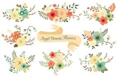 Hand Drawn Flowers - Illustrations