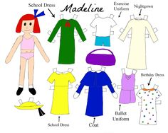 Madeline paper doll- colored