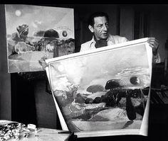 Paul Nash in his studio, circa mid -1940s.