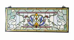 *Voorzetraam Tiffany *31 x 76 cm* 5400 | Tiffany Voorzetramen en glas-in-lood | Haddon Hall Tiffany