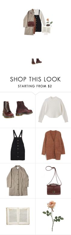 """a little bit in love with you"" by hetasdfghjkl ❤ liked on Polyvore featuring Dr. Martens, Monki and Jayson Home"