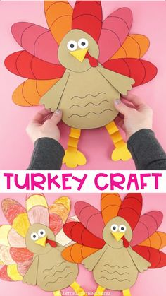 Grab some scissors and have fun making this easy paper turkey craft for kids for a cute Thanksgiving decoration. Our template makes creating this beautiful turkey craft simple for toddlers, preschoolers and kids of all ages. Turkey Crafts For Preschool, Thanksgiving Crafts For Toddlers, Paper Crafts For Kids, Thanksgiving Turkey, Thanksgiving Decorations, Thanksgiving Cookies, Crafts For Kids To Make, Diy Paper, Feather Crafts
