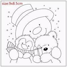 Rubber Silicone Clear Stamps for Scrapbooking Tampons Transparents Seal Background ., Silicone Clear Stamps for Scrapbooking Tampons Transparents Seal Background Stamp Card Making Diy Animal snowman. Colouring Pages, Adult Coloring Pages, Coloring Books, Christmas Coloring Sheets, Tampons Transparents, Illustration Noel, Pintura Country, Theme Noel, Christmas Drawing