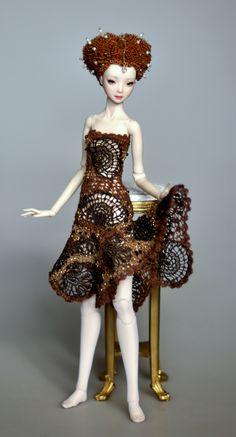 crochet dress for doll