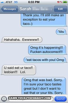 I'm sure your taco tastes great, but ...