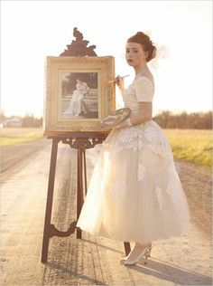 Lace vintage inspire dress - bride