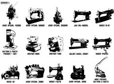 Vintage Sewing Machines for Denim