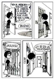 """Para seguir festejando el aniversario de la pequeña Mafalda, hemos reunido 50 tiras que no tienen desperdicio. Obviamente, si nos pusiéramos a elegir todas """"las mejores"""", podríamos pasar horas leyendo sus aventuras. Pero con fines de este listado, elegimos las que para nosotros son de las más significativas del per"""